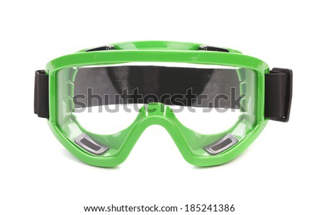 Snowboard goggles. Isolated on a white background.