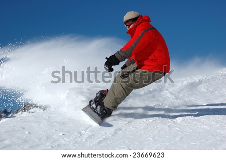 Snowboarder - stock photo