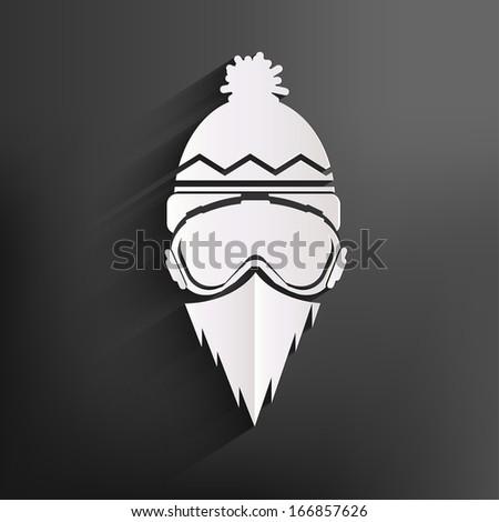Snowboarder icon - stock photo