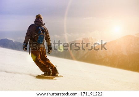 snowboarding - stock photo