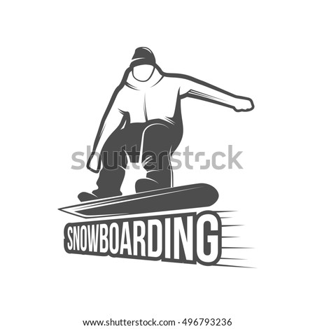 snowboarding badges and logotypes