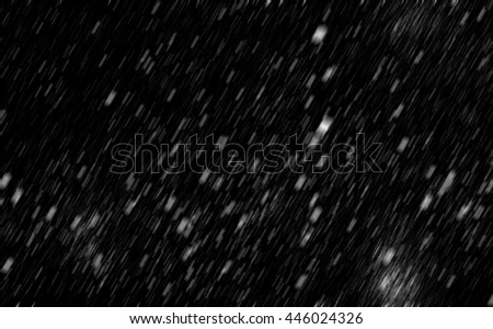 Snowfall - texture on the black background