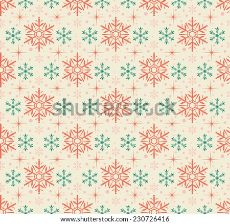 Snowflake Abstract Background. Seamless wallpaper - stock photo