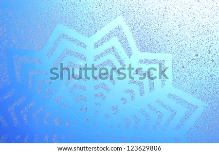 Snowflake pattern on window