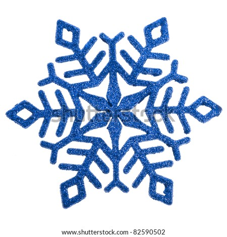 Snowflake shape decoration  included isolated on a white - stock photo