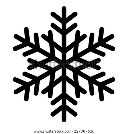 Simple Snowflake Silhouette Stock Images, Royalty-...
