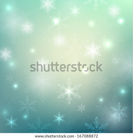 Snowflakes abstract background - raster version - stock photo