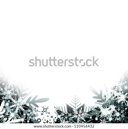 Snowflakes background - stock photo