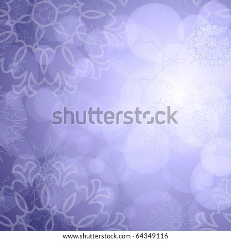 snowflakes background for winter and christmas theme - stock photo