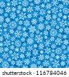 snowflakes background (winter background) - stock photo