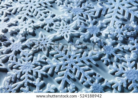Snowflakes on background