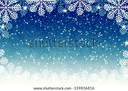 Snowflakes on blue background - Christmas background