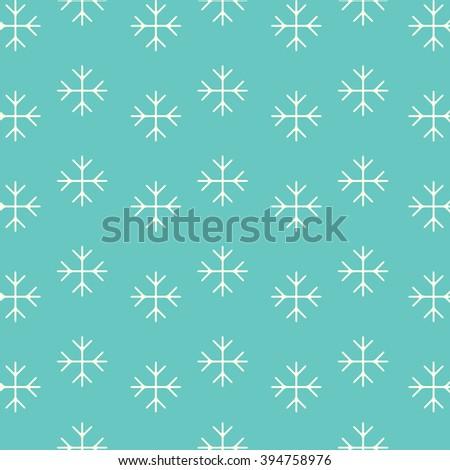 Snowflakes Pattern - stock photo
