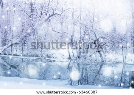 snowing - stock photo