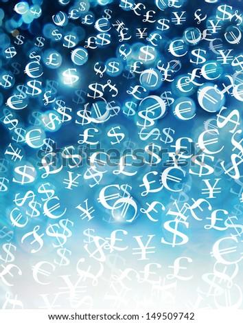 snowing money - stock photo