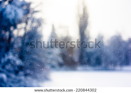 Snowing winter background  - stock photo