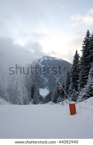 Snowmaker, french Alps, Areches, France