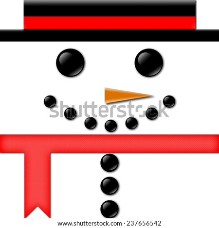 Snowman Christmas Background and Greeting Card - stock photo