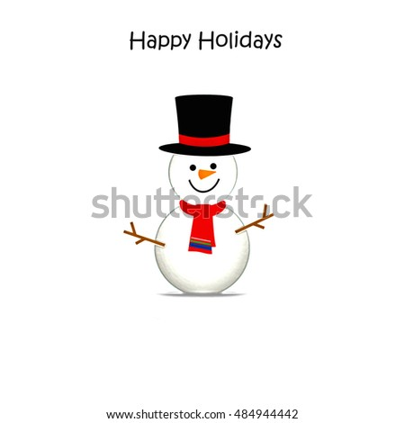 Snowman - Happy Holidays