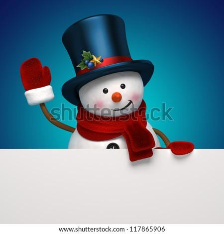 snowman night banner - stock photo