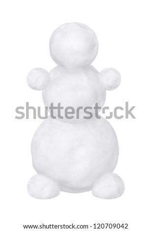 Snowman on a white background - stock photo