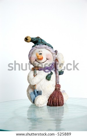 Snowman on Ice - stock photo