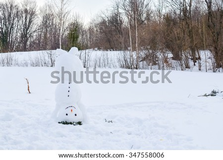 snowman upside down - stock photo