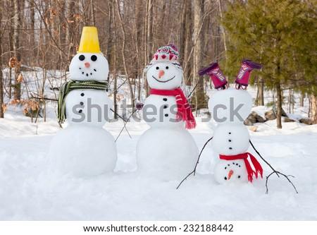 Snowmen - stock photo