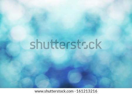 Snowy bokeh background - stock photo