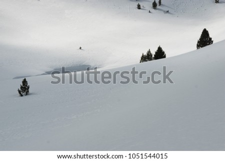 snowy mountain landscape