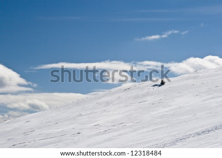 snowy mountain slope