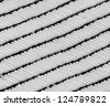 Snowy roof of a building.black and white texture - stock photo