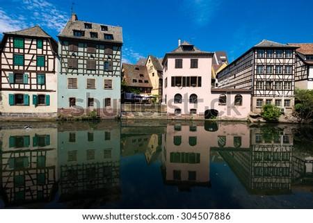 So called Petit France in Strasbourg/France - stock photo