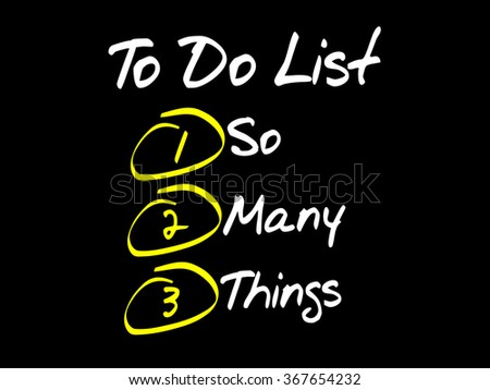 So Many Things in To Do List, business concept - stock photo