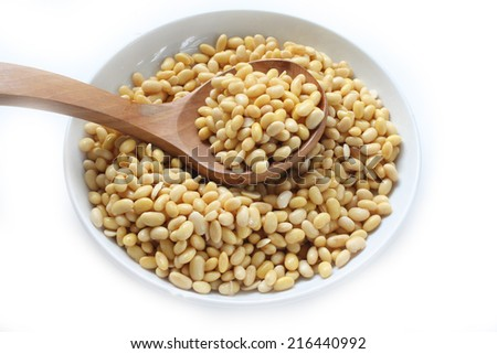 soaked soy bean for healthy living