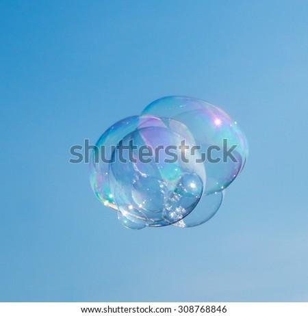 soap bubble - stock photo