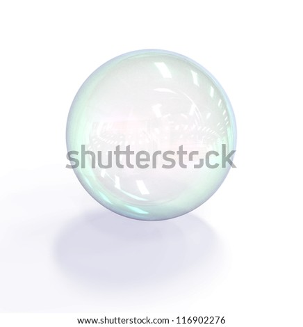 Soap bubble isolated on white background - stock photo