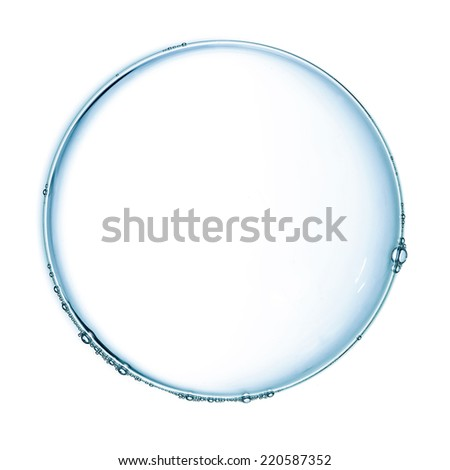 Soap bubble isolated over white - stock photo