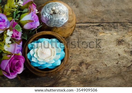 Soap carving flower