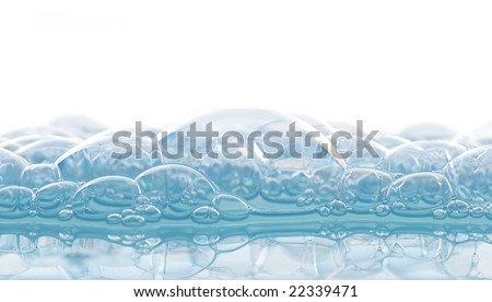 soap foam - stock photo