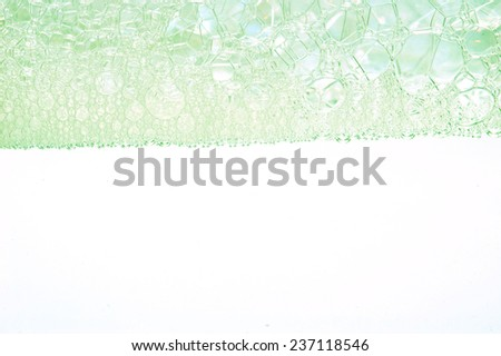 Soap foam and bubbles background  - stock photo