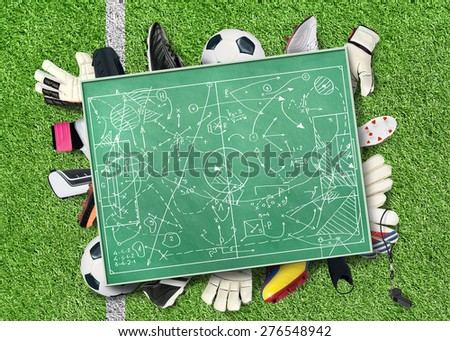 Soccer and football - stock photo