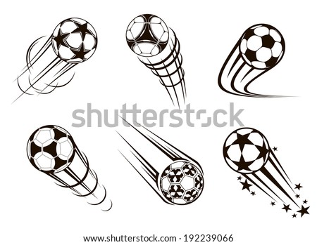 Soccer and football emblems for sport and championship logo design. Vector version also available in gallery - stock photo