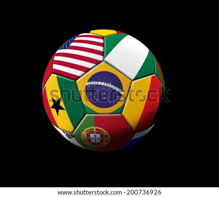 Soccer artwork for Championship . Brazil. - stock photo