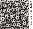 Soccer Ball Background - stock photo