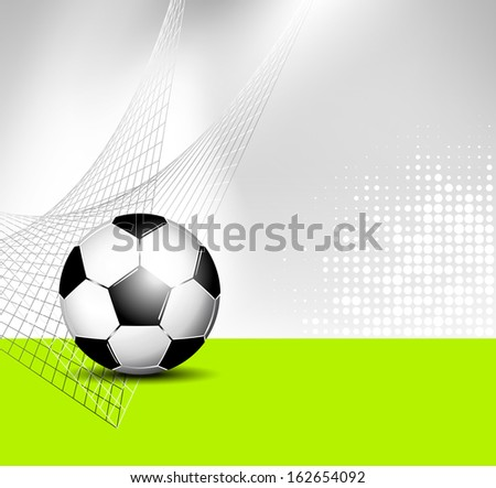 Soccer ball background with abstract net texture - stock photo