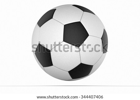 Soccer ball close up detail against a white background - stock photo