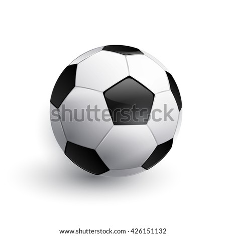 Soccer ball. Football ball. Realistic soccer ball isolated on white.  - stock photo