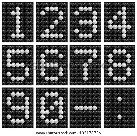 Soccer ball ( football ) score board number . - stock photo