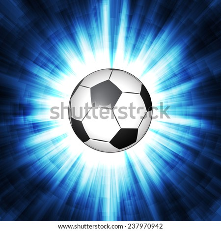 soccer ball in neon lines